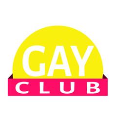 Gay club label vector