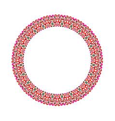 Gravel mosaic wreath - round circular abstract vector