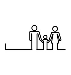 healthcare family silhouette icon vector image