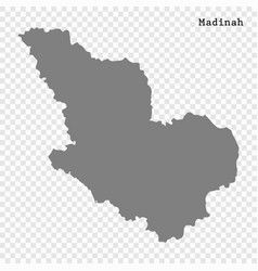 high quality map is a region saudi arabia vector image
