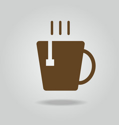 hot tea cup icon vector image
