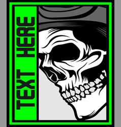 Human skull graphic design hand drawing vector
