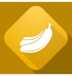 icon of Banana with a long shadow vector image