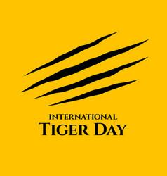 International tiger day vector