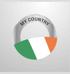 ireland my country flag badge vector image