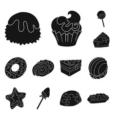 isolated object of sweetness and product symbol vector image