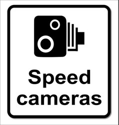 Isolated speed cameras sign vector