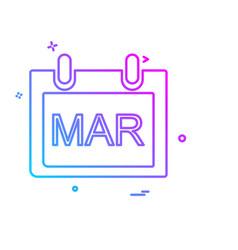 march calender icon design vector image