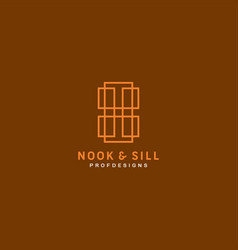Nook and sill modern window and door specialist vector