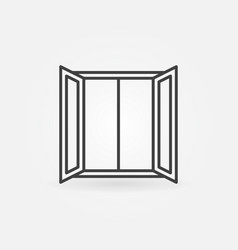 open window icon in outline style concept vector image