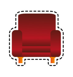 red armchair icon image vector image