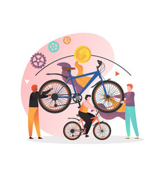 rent bicycle concept for web banner vector image