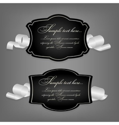 Romantic label with ribbon vetor vector image