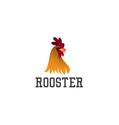 Rooster logo icon flat template design vector