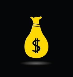 sack of money dollar vector image