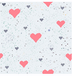 seamless heart pattern on white vector image