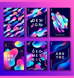 Set creative design posters vector