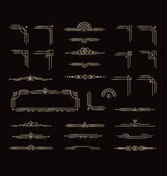 set elegant frames border dividers and other vector image