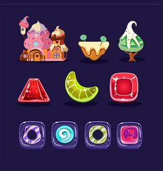 Set of assets for mobile computer game vector