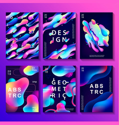 Set of creative design posters vector