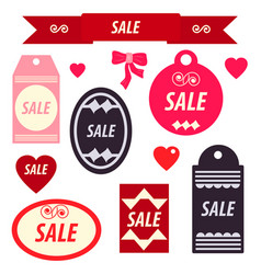 set of discount stickers and labels vector image