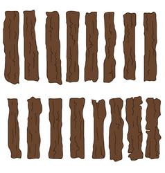 Set of wooden planks vector