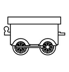 silhouette wagon train toy icon vector image