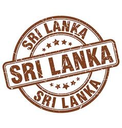Sri Lanka stamp vector image