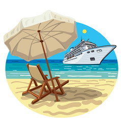 tropical beach resort vector image vector image