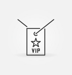 vip neck card outline icon in thin line vector image
