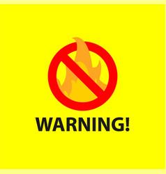 Warning template design vector