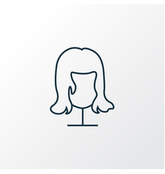 wig icon line symbol premium quality isolated vector image
