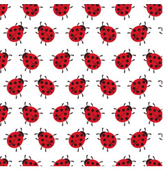 background of ladybug vector image