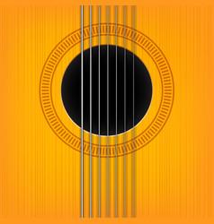 guitar sound hole background vector image