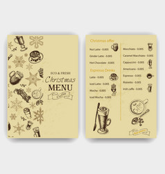 sketch - vintage menu coffee vector image vector image