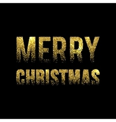 Christmas card gold sparkles on black background vector