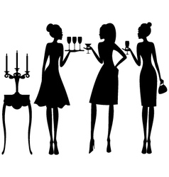 elegant cocktail party vector image