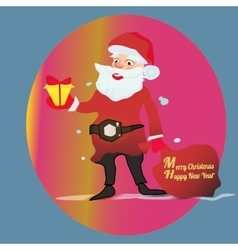 Full length portrait of a Santa Claus posing near vector image vector image
