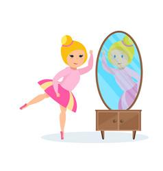 girl in dress presents herself ballet dancer vector image