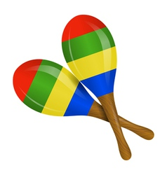Image of maracas on a white background vector image