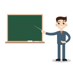 Teacher man on lesson vector image