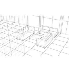 office interior sketch vector image vector image