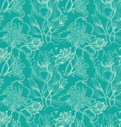 seamless wallpaper pattern with flowers vector image vector image