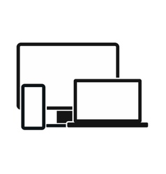 Computer monitorlaptop and phone icon vector image vector image