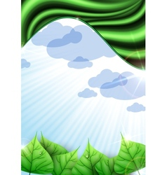 Eco Green Ackground With Leaves vector image vector image