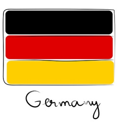 Germany flag doodle vector image vector image