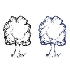 Hand drawn sketch tree Ink vector image vector image
