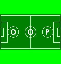 oop football field vector image