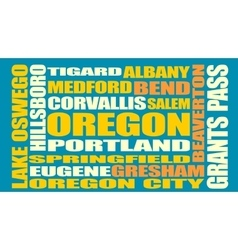 Oregon state cities list vector image vector image