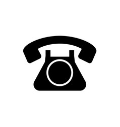 phone retro old icon black vector image